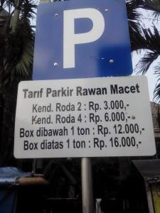 Tarif Parkir Rawan Macet