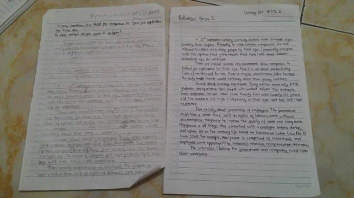 Tulisan saya