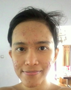 Wajah asli dan cuma pakai air buat cuci muka